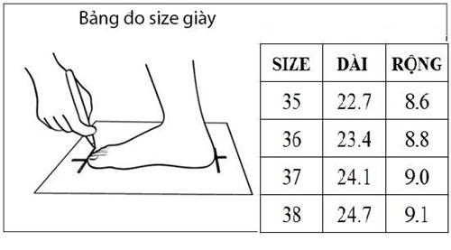 cách đo size giày chuẩn