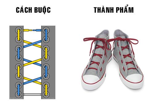 cách thắt dây giày nhanh