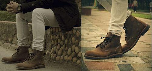 giày da cao cổ nam hàn quốc