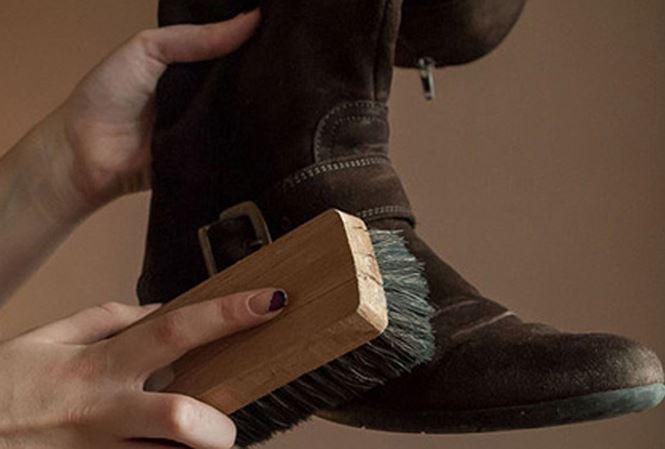 cách bảo quản giày da lộn