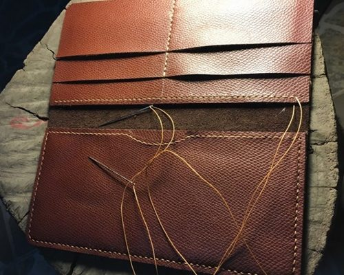 cách làm ví da handmade