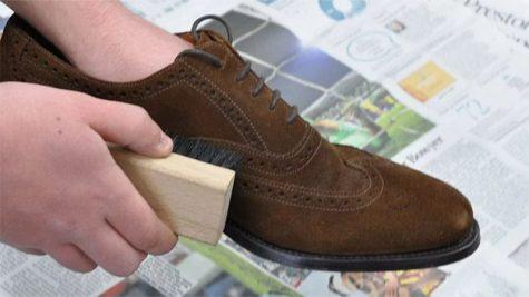 cách vệ sinh giày da