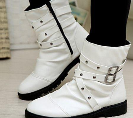 giày cao cổ nam màu trắng