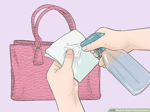 cách vệ sinh ví da bò