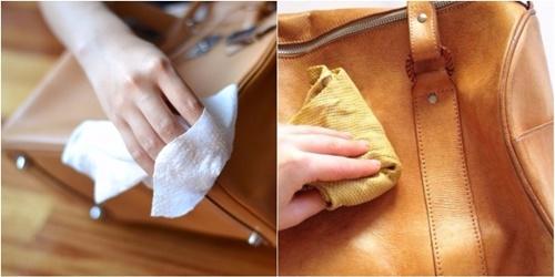 cách làm sạch đồ da