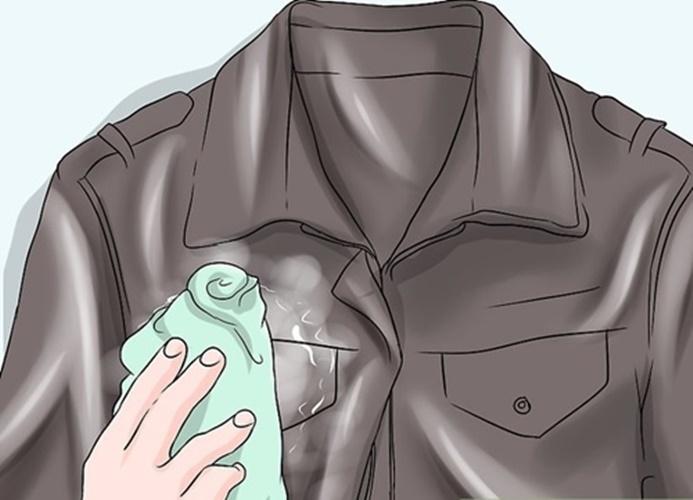 cách giặt áo da