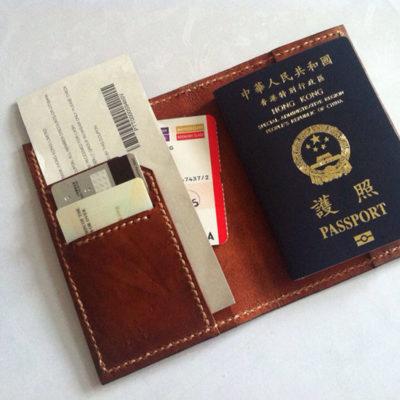 ví đựng hộ chiếu bằng da