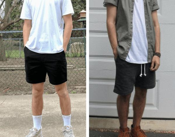 cách phối quần short nam