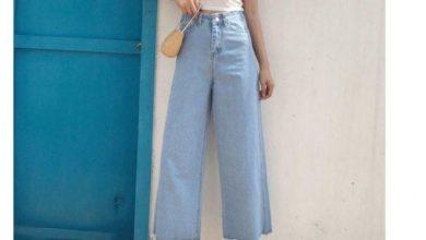 quần ống rộng jean